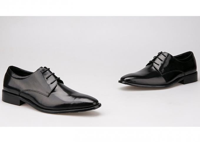 Flats Men Formal Dress Shoes Black Genuine Leather Lace Up Shoes For Business Office