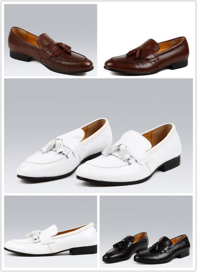Genuine Suede Tassel Loafers Mens Shoes / Suede Leather Dress Shoes ODM