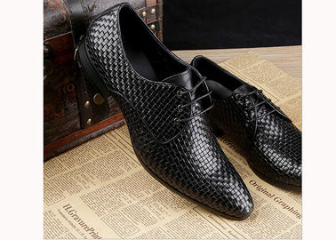 China Mens Burgundy Dress Shoes Vintage Italian Goodyear Welted Full Grain Leather Shoes supplier
