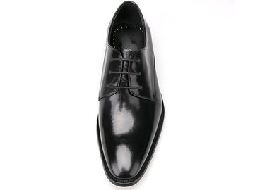 China Italian Mens Leather Dress Shoes Black Lace Dress Shoes For Business Office supplier