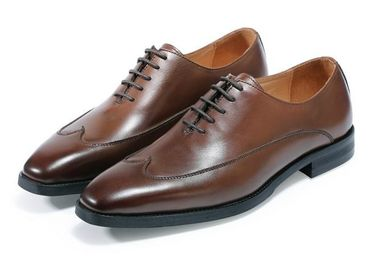 Derby Brogue Oxford Mens Leather Dress Shoes Classical Handmade With OEM Service