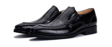 Slip On Brogue Mens Leather Dress Shoes Loafers Crocodile Pattern For Office