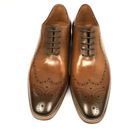 Burnished leather lace up mens dress formal shoes , oxford leather shoes