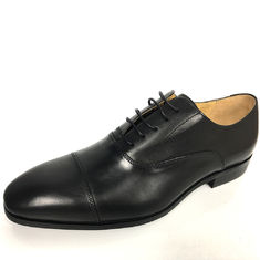 Germany Style Mens Handmade Comfort Sole Oxford Dress Shoes Rubber Black