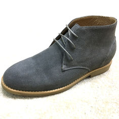 Fancy Suede Material High Top Casual Shoes , Mens Lace Up Casual Shoes