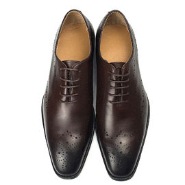 Hand Colored Calf Leather Men Formal Dress Shoes Elgant Style