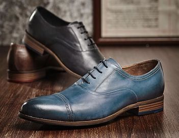 Durable 3cm Heel Mens Leather Dress Shoes , Party Wear Shoes For Mens