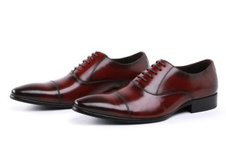 Oxford Army Ceremonial Red Leather Military Officer Men Shoes 39-45# Size