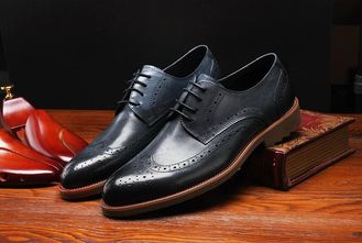Classic Style Derby Black Dress Up Shoes , Retro Men Dress Oxford Shoes