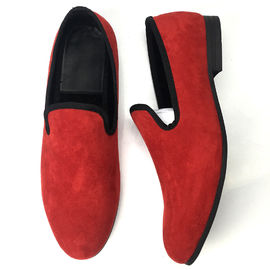 Different Color Mens Velvet Smoking Slippers , Men Business Casual Shoes