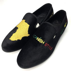 Wear Resistant Mens Velvet Loafers , Men Casual Shoes With Black Color