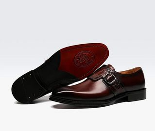 Luxurious Mens Monk Strap Shoes / Pure Leather Shoes Italian Style Loafer For Men
