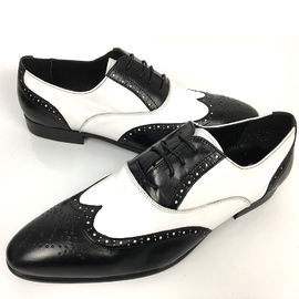 Business Men'S Wedding Dress Shoes / Mens Woven Leather Lace Up Shoes