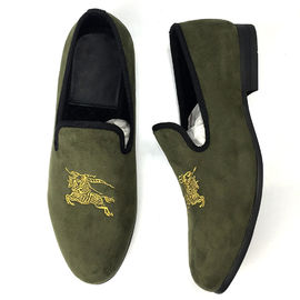 Wedding Mens Leather Slip On Shoes Men'S Smoking Slippers EVA Insole Material
