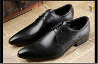 China Italy Stylish Mens Comfortable Dress Shoes Black / Brown Mens Business Shoes factory