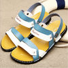 China Blue Mens Flip Flop Slippers , Front & Rear Strap Slip On Men Outdoor Sandals company
