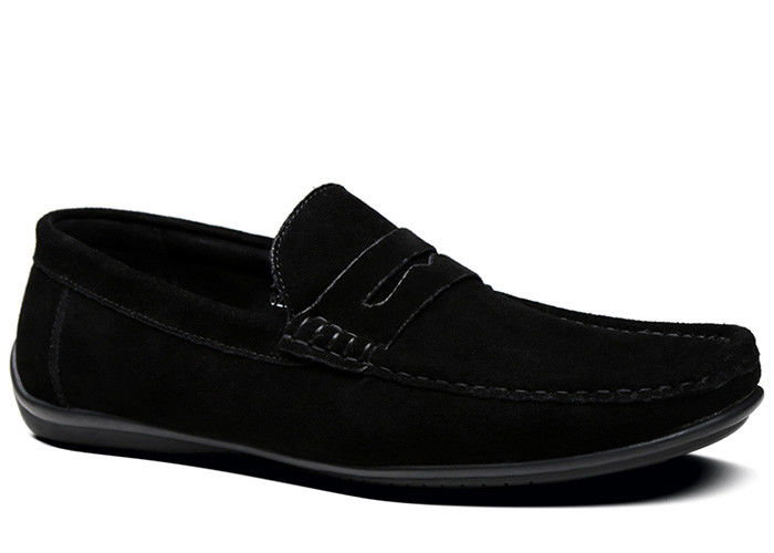fd0048a7127 Summer Suede Loafers Mens Leather Moccasins Shoes Black Slip On Dress Shoes  For Driving