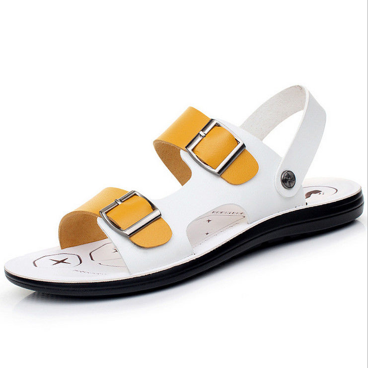 0f559d001fb7 China Fashion PU Leather Flat Sandals For Home