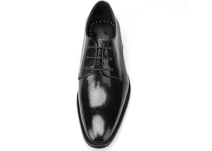 Italian Mens Leather Dress Shoes Black Lace Dress Shoes For Business