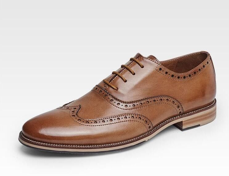 China Customized Men S Wedding Dress Shoes Handmade Full Grain Leather  Goodyear Welted Shoes supplier 3e57d70089fd