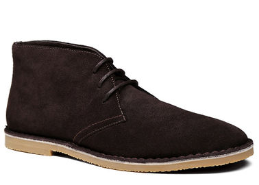 Warm Marten Mens Suede Desert Boots Low Heel Nubuck Leather Ankle Boots With Sewing Thread