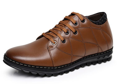 Round Toe Elevator Men Shoes Breathable Genuine Leather Casual Shoes For Winter