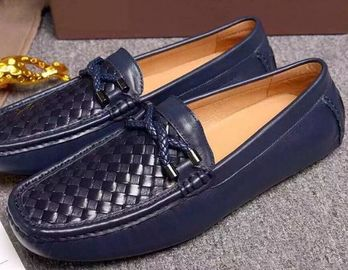 Casual Boat Shoes Mens Leather Loafers Moccasin - Gommino With Genuine Leather