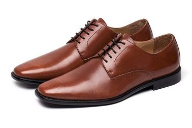 Office Handmade Mens Brown Lace Up Dress Shoes Classic Goodyear Leather Sole