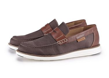 Luxury Slip On Mens Leather Casual Shoes Comfortable EVA Lightweight sole