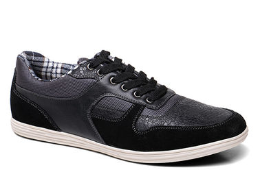 Lace Up Walking Mens Casual Leather Boots , Black Mens Casual Footwear
