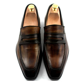 Custom Mens Leather Dress Shoes Goodyear Shoe 100% Handmade Genuine Leather Loafers