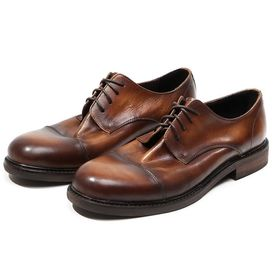 China Bullock Men Formal Dress Shoes Fashion Brown Mens Leather Oxford Shoes factory