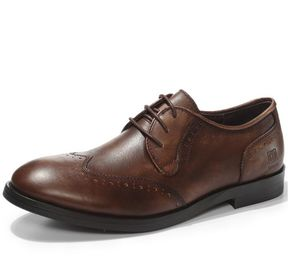 China Full Grain Leather Mens Dress Shoes , Lace Up Pointed Toe Mens Casual Oxford Shoe factory