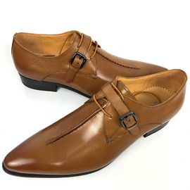 China Oxford Business Office Dress Men Formal Dress Shoes , Monk Strap Shoes factory