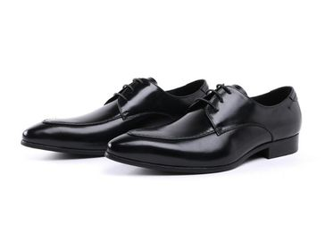 China Embossing Design Patent Leather Black Dress Shoes , Lace Up Dress Shoes factory
