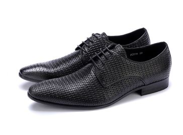 China All Woven Bright Genuine Mens Leather Dress Shoes , Leather Oxfords Shoes For Men factory